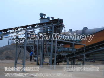 ball press machine production line equipment construction site